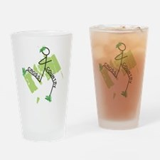 Cute Cross Country Runner Drinking Glass
