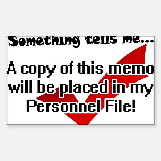 Personnel File Rectangle Decal