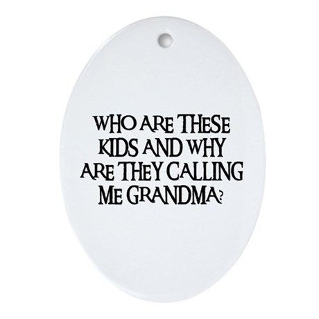 WHO ARE THESE KIDS Oval Ornament
