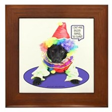 Black Lab Clown Framed Tile