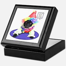 Black Lab Clown Keepsake Box