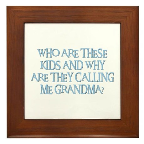 WHO ARE THESE KIDS Framed Tile