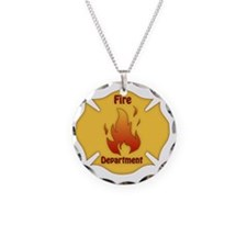 Fire Department Emblem 2 Necklace