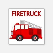 "FIRETRUCK Square Sticker 3"" x 3"""