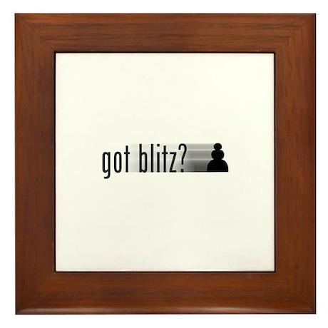 Got Blitz? Framed Tile