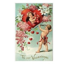 Cupids Valentine Postcards (Package of 8)