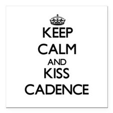 "Keep Calm and kiss Cadence Square Car Magnet 3"" x"