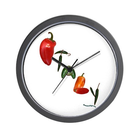 Italy Peppers Wall Clock