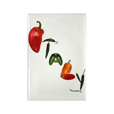 Italy Peppers Rectangle Magnet (100 pack)