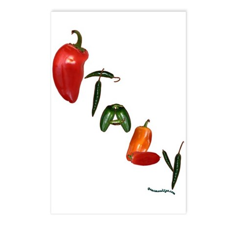 Italy Peppers Postcards (Package of 8)