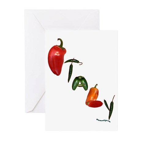 Italy Peppers Greeting Cards (Pk of 10)