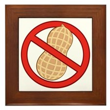 STOP. NO PEANUTS.ALLERGIES Framed Tile