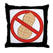 STOP. NO PEANUTS.ALLERGIES Throw Pillow