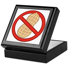 STOP. NO PEANUTS.ALLERGIES Keepsake Box