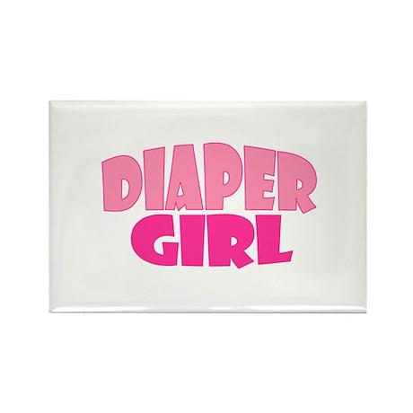 Diaper Girl Rectangle Magnet