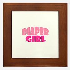 Diaper Girl Framed Tile