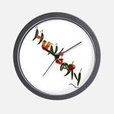 Hungary Peppers Wall Clock