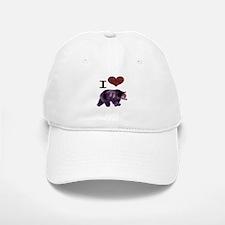 I Love Bears Baseball Baseball Cap