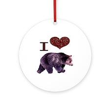 I Love Bears Ornament (Round)
