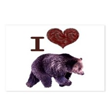 I Love Bears Postcards (Package of 8)