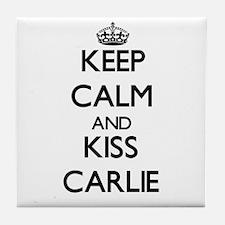 Keep Calm and kiss Carlie Tile Coaster