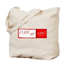 class of 2007 red Tote Bag