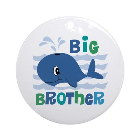 Whale Big Brother Ornament (Round)