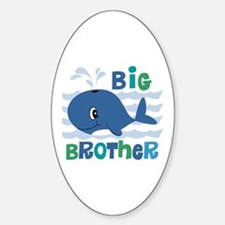 Whale Big Brother Sticker (Oval)