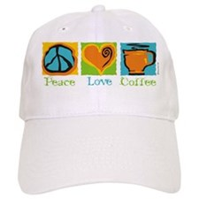 Peace Love Coffee Baseball Cap