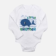 Whale Little Brother Long Sleeve Infant Bodysuit