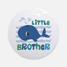 Whale Little Brother Ornament (Round)