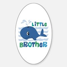 Whale Little Brother Sticker (Oval)