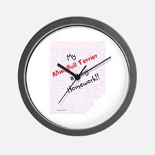 Mini Bull Homework Wall Clock
