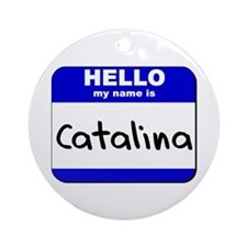 hello my name is catalina  Ornament (Round)