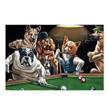 Dogs Playing Billiards Postcards (Package of 8)