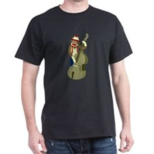 Sock Monkey Upright Bass Player T-Shirt