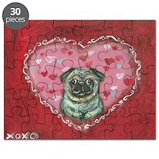 Pug Valentine xoxo Puzzle