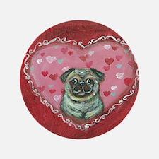 """Pug Valentine xoxo 3.5"""" Button"""