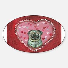 Pug Valentine xoxo Decal