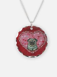 Pug Valentine xoxo Necklace