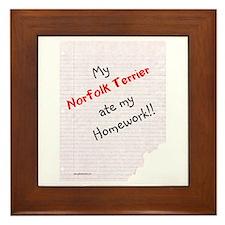 Norfolk Homework Framed Tile