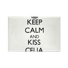 Keep Calm and kiss Celia Magnets