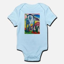 Blue Horse I by Franz Marc Body Suit