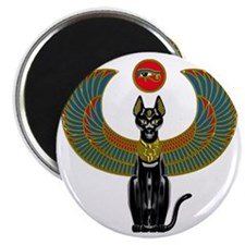 Ornate Eqyptian Cat Godess Magnet