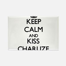 Keep Calm and kiss Charlize Magnets