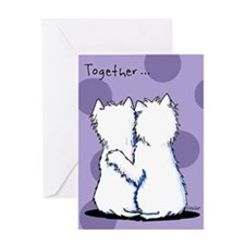 Hugging Westies Greeting Card