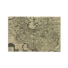 Persia Ancient Map 1747 Rectangle Magnet