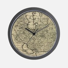 Persia Ancient Map 1747 Wall Clock