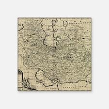 "Persia Ancient Map 1747 Square Sticker 3"" x 3"""