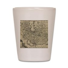 Persia Ancient Map 1747 Shot Glass